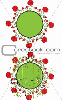 Frame with a rose, vector