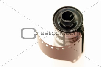 35mm film over white