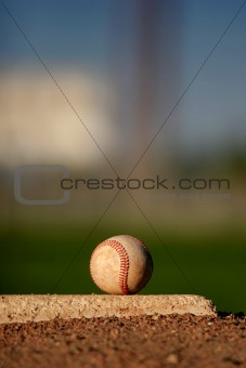 baseball on pitcher's mound