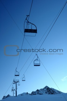 Deserted chair lift