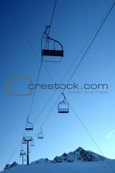 Deserted chair lift
