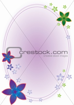 Flower Oval Frame