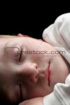 sleeping young boy