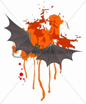 bat and grunge spot