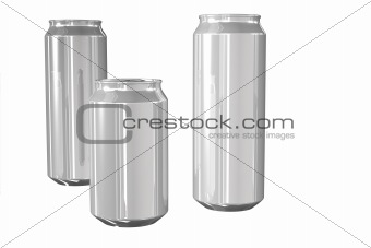 aluminum beer can isolated on white background