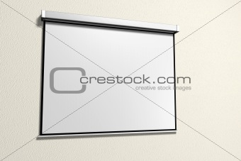 A presentation with a projector