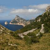 Cabo Formentor with a serpentine road (Mallorca, Spain)