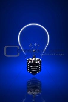 blue light bulb