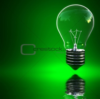 green light eco bulb