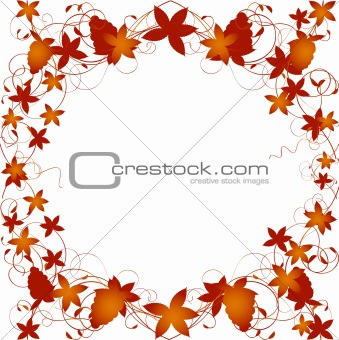 Autumn Floral border