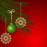 Christmas tree decoration vector background