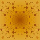 Autumn decorative floral vector