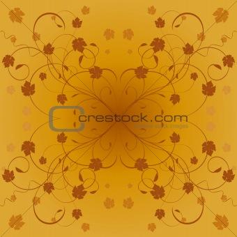 Autumn decorative floral vector