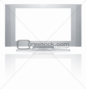 Blank TV screen