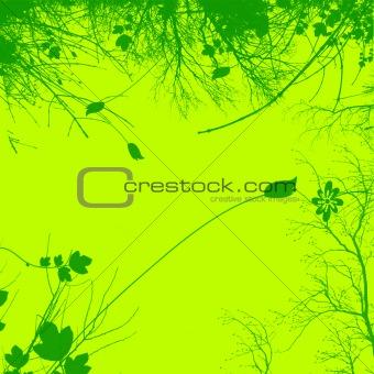 Green Plant and Flower Illustration Design