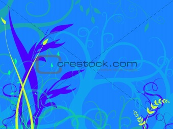 Bright Blue Underwater Sea Ocean Bed