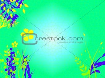 Bright Green Turquoise Underwater Sea Ocean Bed
