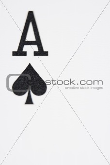 Close up of Ace of Spades