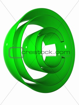 high resolution 3D symbol rendered at maximum quality