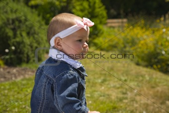 Cute One Year Old Outside