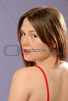 Cute young lady portrait
