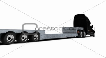 Car carrier truck back view