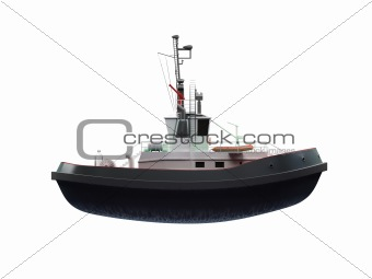 small boat front view