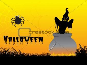 abstract background of halloween treat, illustration