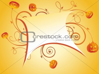 beautiful abstract frame with halloween background
