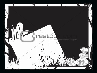 frame with halloween background, wallpaper