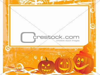 grunge halloween background with frame