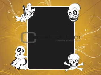 halloween black frame with abstract background