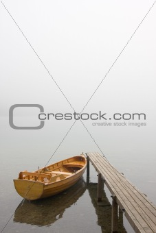 Boat on a misty morning