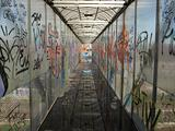 Bridge with graffiti