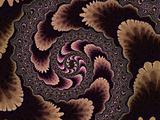 Brown Fractal Spiral 2d Pattern