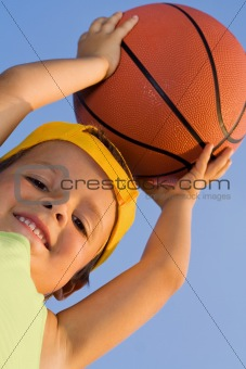 Boy with basket ball