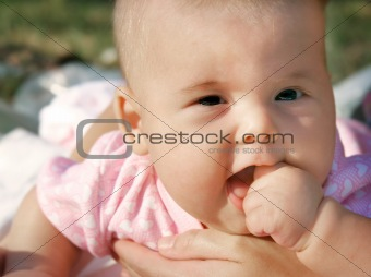 baby outdoor portrait