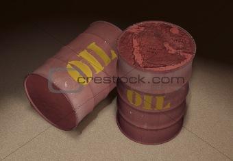 oil barrels 3d