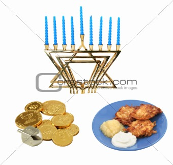 Chanukah Design Elements