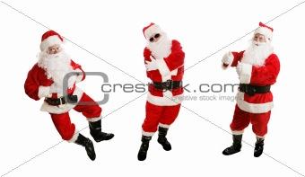 Three Dancing Santas