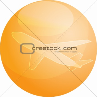 Air travel airplane illustration