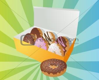 Box of donuts illustration