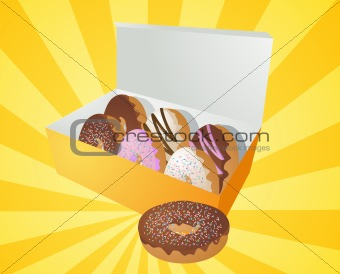Box of donuts illustration