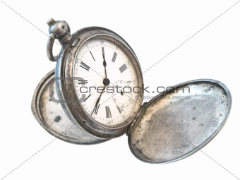 old silver clock