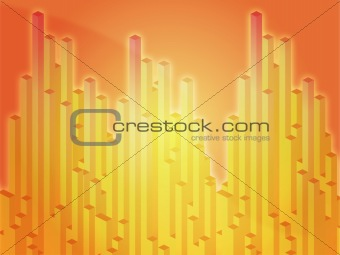 3d columns illustration