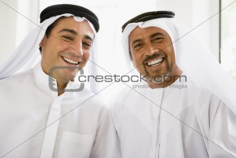 Portrait of two Middle Eastern men