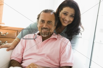 An older Middle Eastern couple