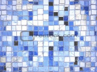 Abstract Cartoony Blue Square Blocks