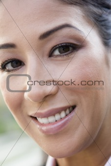 Portrait of woman smiling to camera
