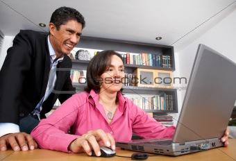 business people on a laptop